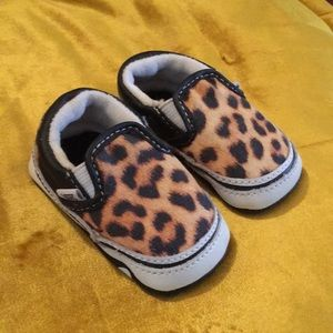 Baby Leopard Vans shoes size 1